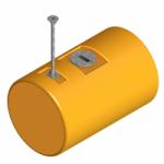 Commercial Mooring Barrel Buoy- Chain Through